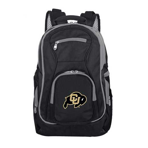 CLCOL708: NCAA Colorado Buffaloes Trim color Laptop Backpack
